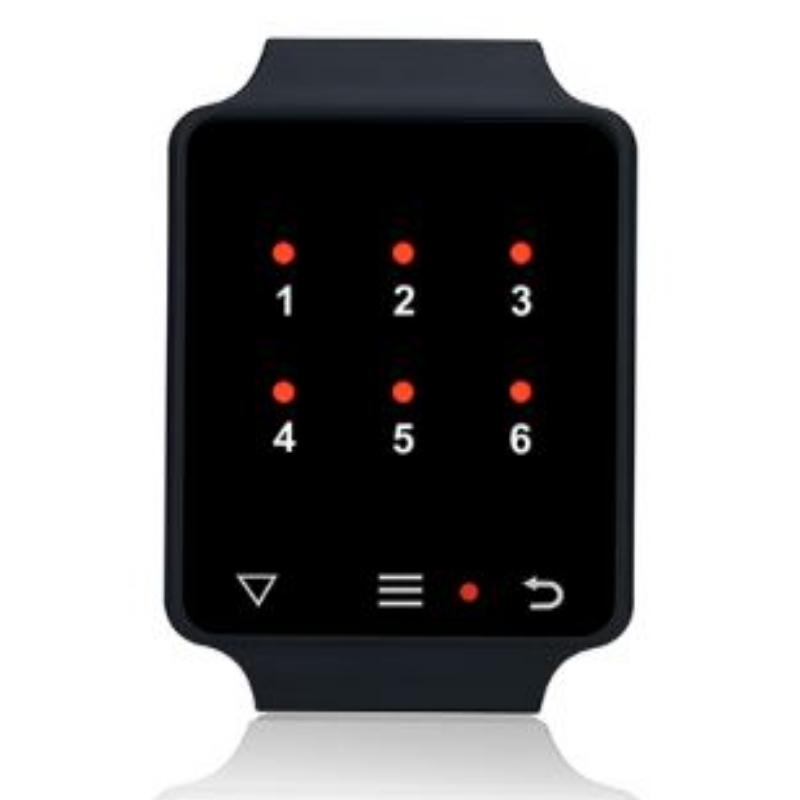 zegarek led czarny działający jako pager, zegarek kelnerski,