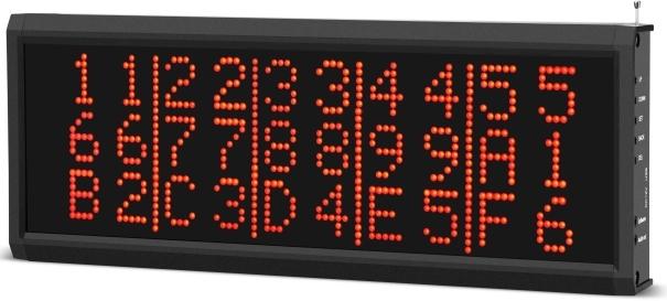 przywoływacz, systemy przywoławcze monitor służący do wyświetlenia informacji, numeru - który wzywa, widać podłuźny monitor cyfrowy