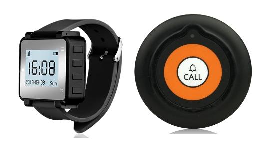 zestawy przywołujące - składający się z zegarka i przycisku