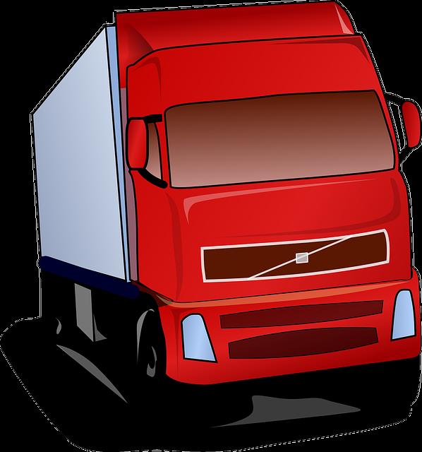 ciężarówka jako symbol zastosowanie przywoływaczy w centrach dystrybucyjnych